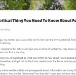 The Most Critical Thing You Need To Know About Forex Trading