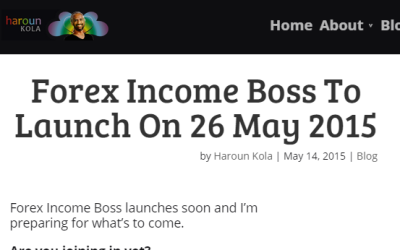 Forex Income Boss To Launch On 26 May 2015