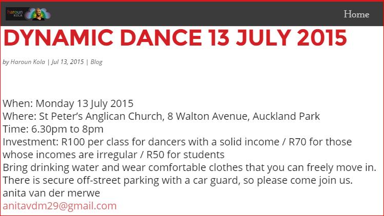 DYNAMIC DANCE 13 JULY 2015