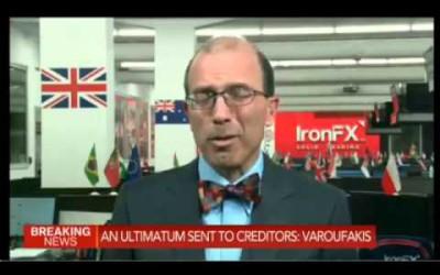 """Greece votes """"NO"""" Marshall Gittler Live on Bloomberg 06.07.2015"""