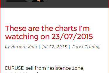 These are the charts I'm watching on 23/07/2015