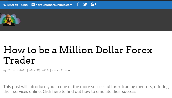 How to be a Million Dollar Forex Trader