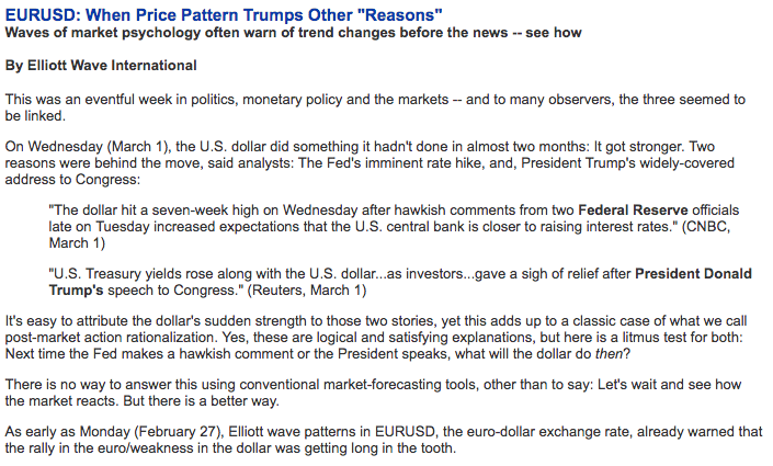 "EURUSD: When Price Pattern Trumps Other ""Reasons"""