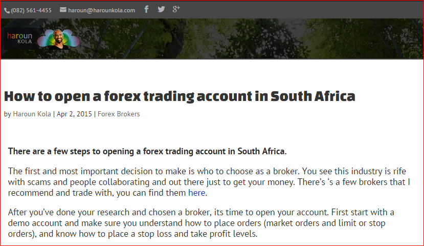 Forex trade training in south africa