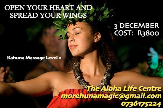 KaHuna Massage Level 2. 3 December 2017