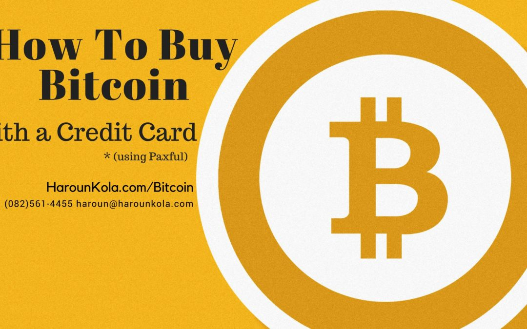 Buy Bitcoin Instantly With Paxful Using A Credit Card
